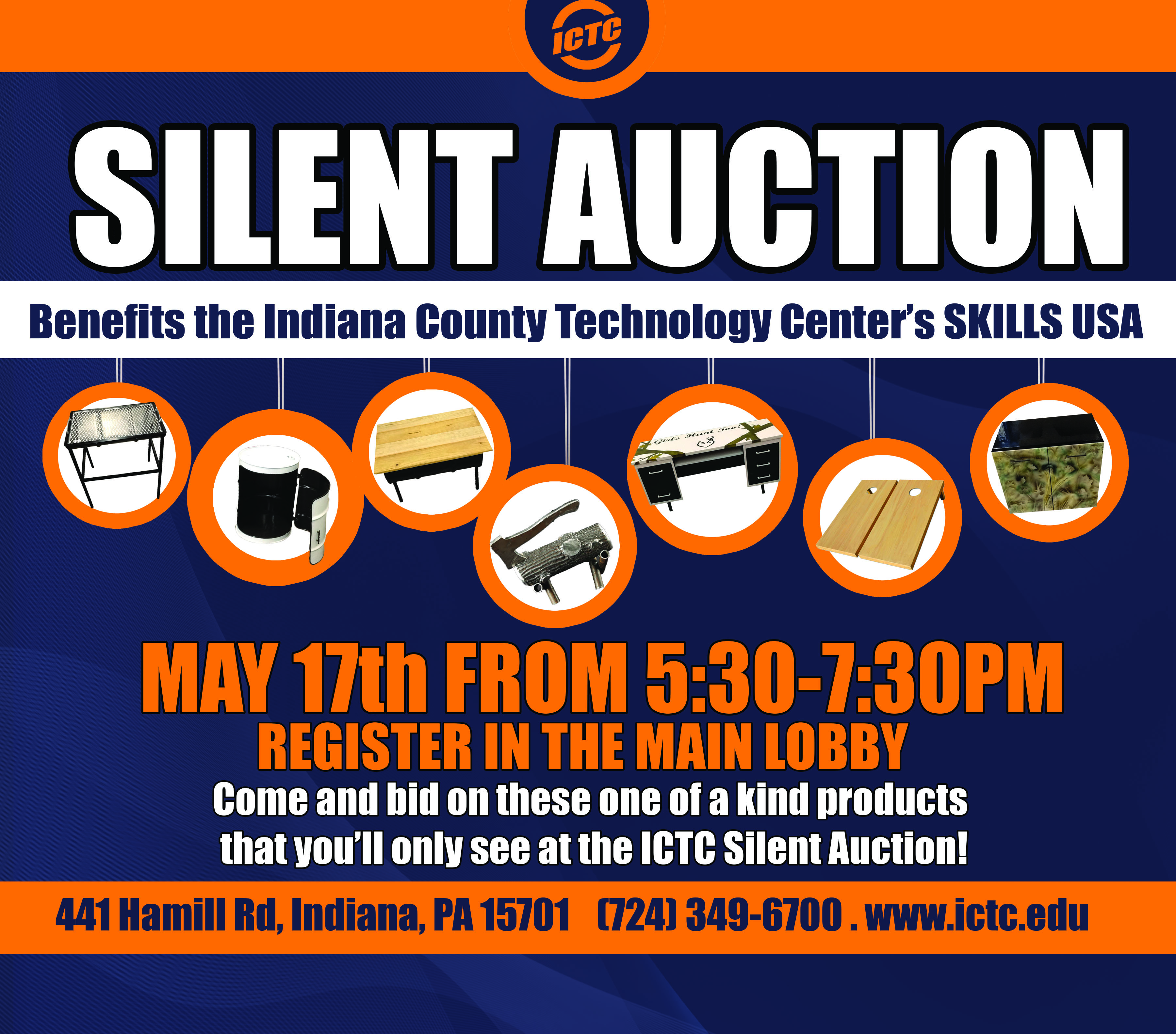 silent auction and adult ed enrollment event